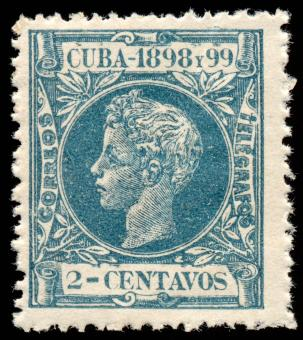 Free Stock Photo of Cyan King Alfonso XIII Stamp