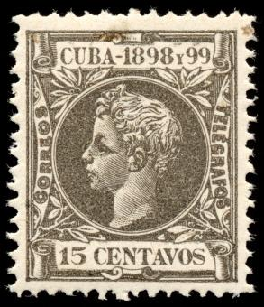 Free Stock Photo of Grey King Alfonso XIII Stamp