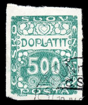Free Stock Photo of Green Art Nouveau Stamp
