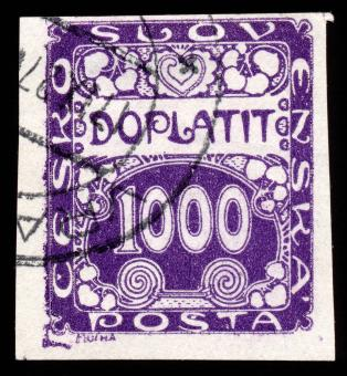 Free Stock Photo of Purple Art Nouveau Stamp
