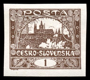 Free Stock Photo of Brown Hradcany Castle Stamp