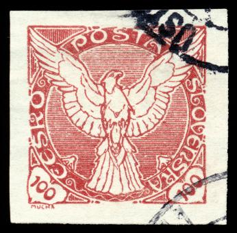 Free Stock Photo of Red Falcon Stamp