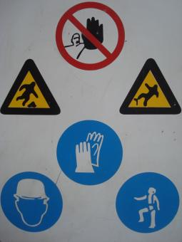 Free Stock Photo of Construction warning signs