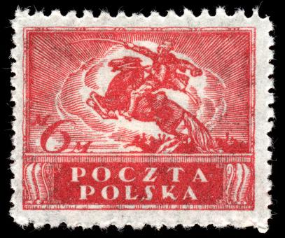 Free Stock Photo of Red Uhlan Regiment Stamp