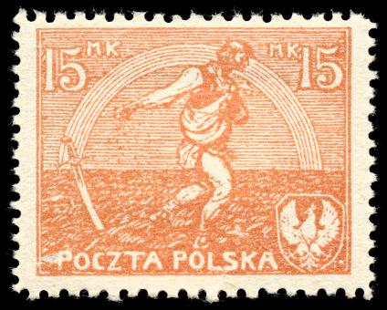 Free Stock Photo of Orange Sower Stamp