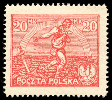 Free Stock Photo of Red Sower Stamp