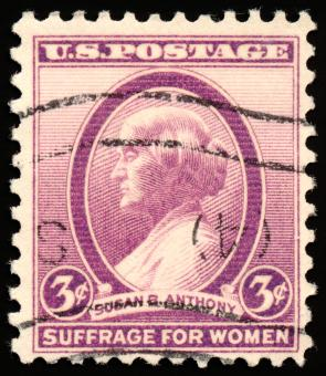 Free Stock Photo of Violet Susan B. Anthony Stamp