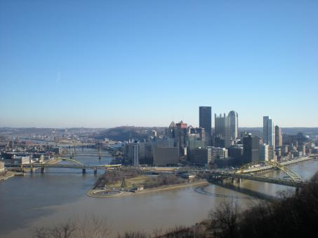 Free Stock Photo of Pittsburgh Winter Skyline