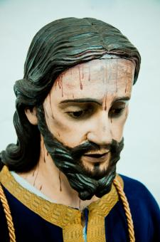 Free Stock Photo of Jesus head statue