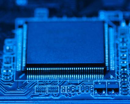 Free Stock Photo of Electronics - Blue Circuit Board