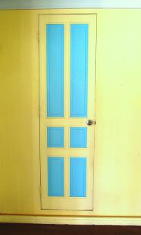 Free Stock Photo of Blue and Yellow Door