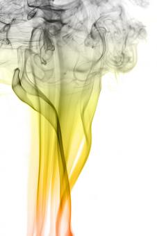 Free Stock Photo of yellow smoke