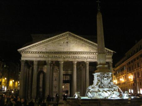 Free Stock Photo of Pantheon in Rome at night