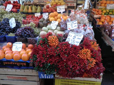 Free Stock Photo of Fruits and vegetables market