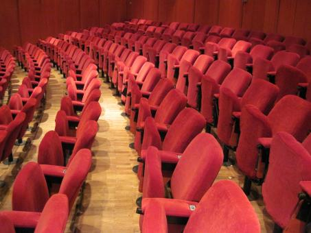 Free Stock Photo of Empty theatre hall