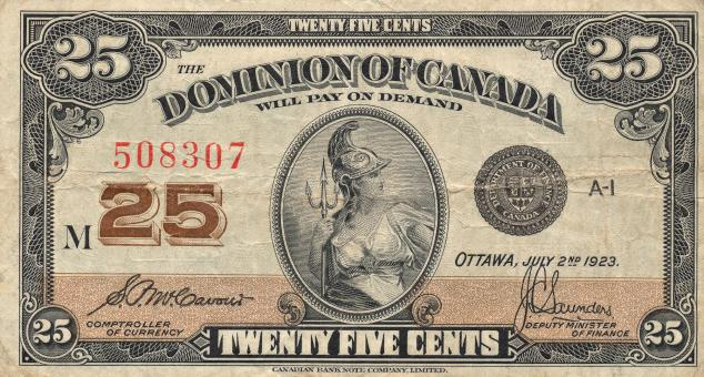 Free Stock Photo of Vintage Banknote - Dominion of Canada
