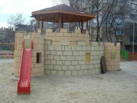 Free Stock Photo of Children playground castle
