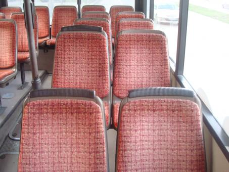 Free Stock Photo of Empty bus seats