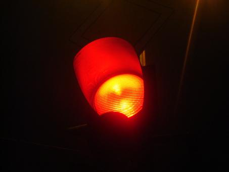 Free Stock Photo of Red traffic light