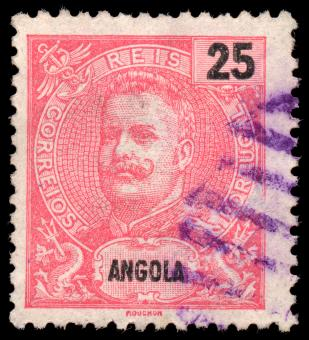 Free Stock Photo of Pink King Carlos I Stamp