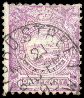 Free Stock Photo of Violet View of Sydney Stamp