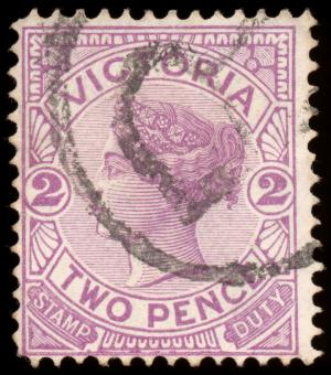 Free Stock Photo of Violet Queen Victoria Stamp