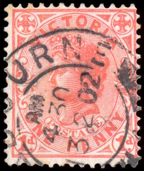 Free Stock Photo of Pink Queen Victoria Stamp