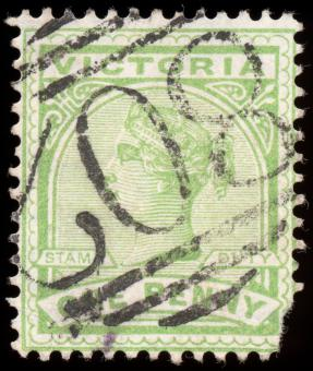 Free Stock Photo of Green Queen Victoria Stamp