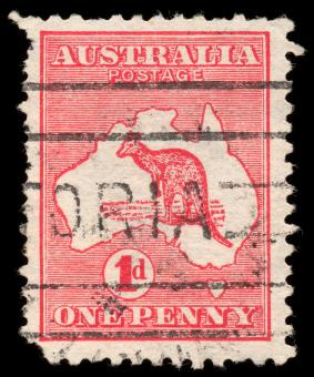 Free Stock Photo of Red Kangaroo Stamp