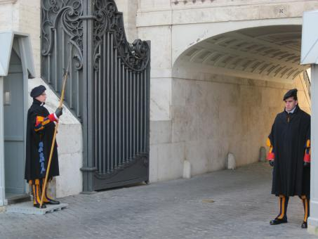 Free Stock Photo of Swiss guards at the Vatican