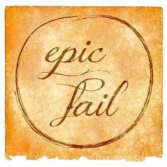 Free Stock Photo of Epic Fail Grunge