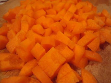 Free Stock Photo of Chopped carrots
