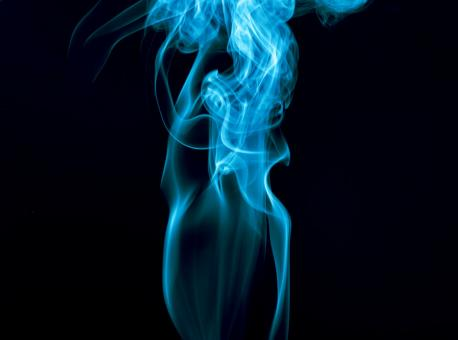 Free Stock Photo of Beautiful Blue Smoke