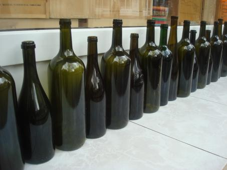 Free Stock Photo of Empty wine bottles