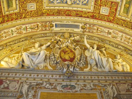 Free Stock Photo of Vatican museum ceiling