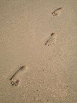 Free Stock Photo of Footprints in the Sand