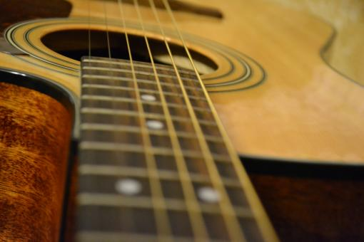 Free Stock Photo of Acoustic guitar neck