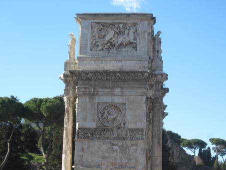 Free Stock Photo of Monument of emperor Constantin, Rome