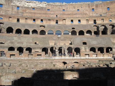 Free Stock Photo of Inside the Colosseum, Rome
