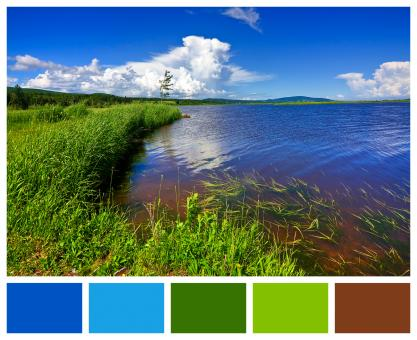 Free Stock Photo of Beaver Brook Color Palette Sampler