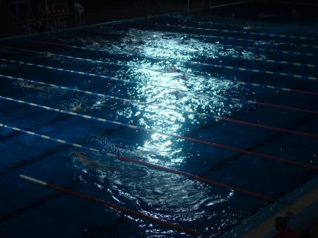 Free Stock Photo of Swimming pool at night
