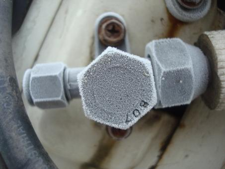 Free Stock Photo of Frosted valve