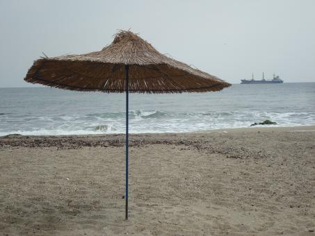 Free Stock Photo of Beach umbrella
