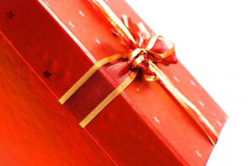 Free Stock Photo of Red gift box