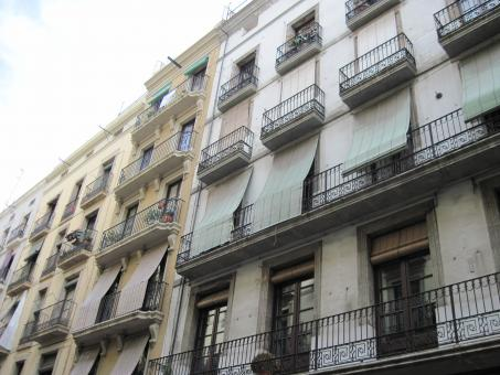 Free Stock Photo of Spanish building facades