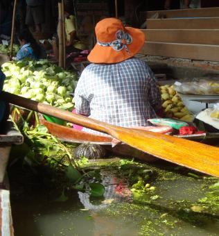 Free Stock Photo of Floating Market