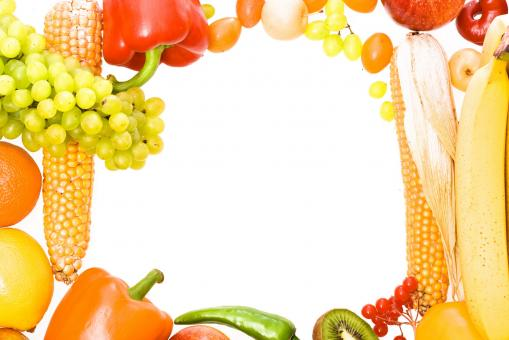 Free Stock Photo of Fruit frame