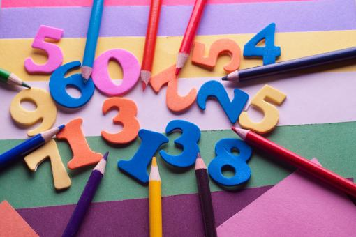 Free Stock Photo of Art Supplies - Letters and Numbers