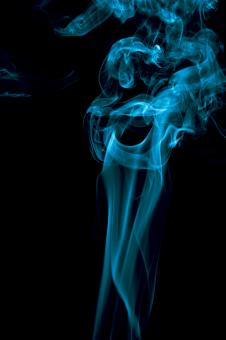 Free Stock Photo of Cyan Blue Smoke