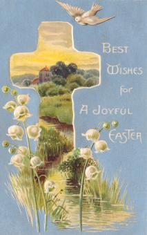 Free Stock Photo of Vintage Easter Greeting Card